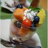 フルーツたっぷり☆フルーツパフェ♪