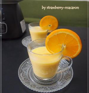 オレンジ・人参の豆乳ホットスムージー