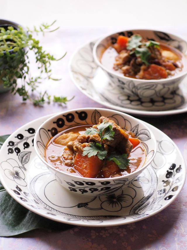 1.豆と野菜と牛肉のスープカレー