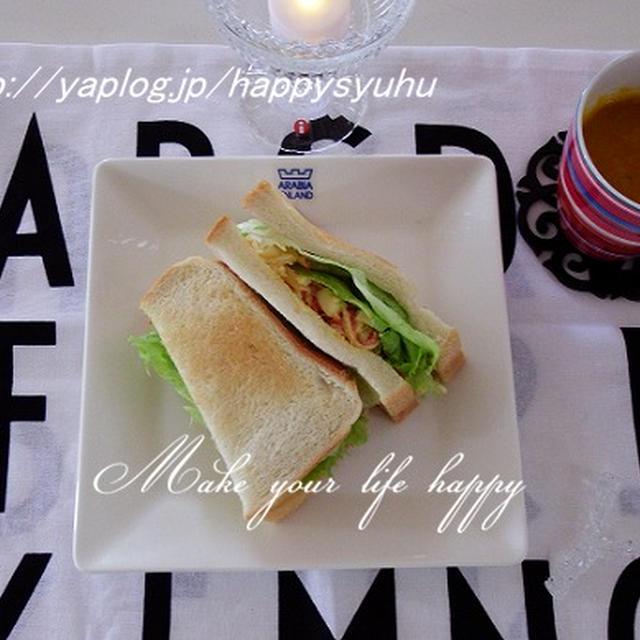 レタスシャキシャキ☆かにかま卵サンド