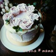 ありがとうございます❤といちごがかくれんぼ♪薔薇のストロベリーシフォンケーキ♪