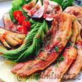 塩豚ソテーのバルサミコ肉サラダ
