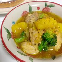 鶏肉とじゃがいものサフラン風スープ煮込み