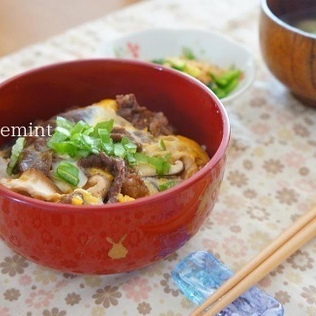コストコプルコギビーフの卵とじ丼