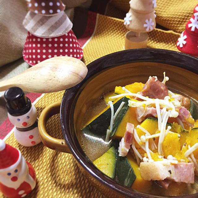 簡単すぎる!かぼちゃのスープ煮♪〜イタリアンハーブの香り【スパイス大使】