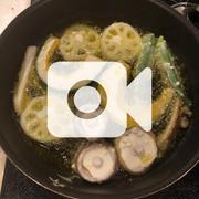 晩御飯は油がはねないスーパー天ぷらです!