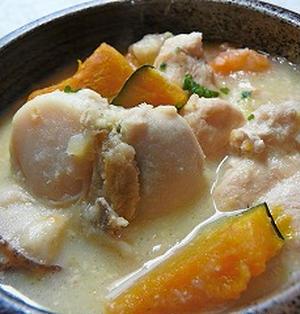 ホタテとかぼちゃ クリームシチュー