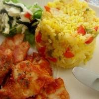 炊飯器で簡単★野菜たっぷりサフランライス