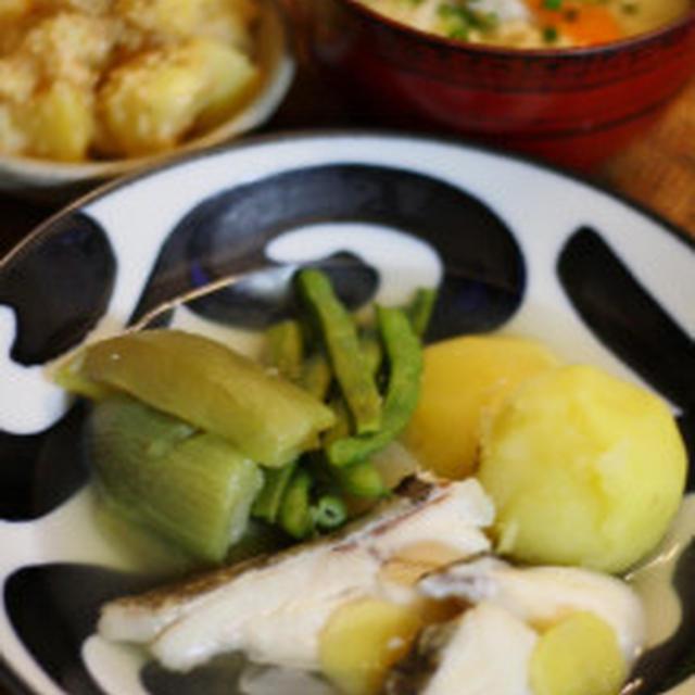 真鱈と野菜の塩煮