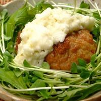 鶏ひき肉と豆腐のヘルシーハンバーグ