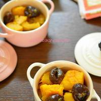 簡単過ぎるけど美味しい♡南瓜のプルーン煮♫