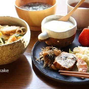 【 休日朝ごはん ~ミニ鶏カツ丼~ 】