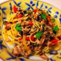 サンマと松の実のスパゲッティ
