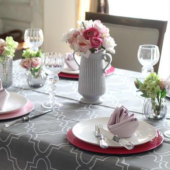 マイフラ「バレンタインのテーブルコーディネート」