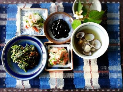 花金♡冷蔵庫の常備菜消費~♬ちょこちょこ盛り盛りモーニング♡(*´ー`*)