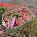 【登山動画有】紅葉の南蔵王縦走コースで肉を焼く!!【山ごはん】