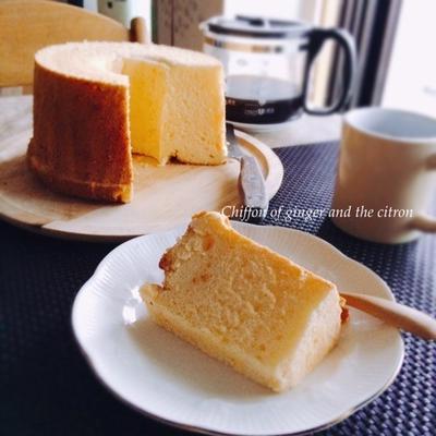 生姜と柚子のシフォンケーキ(日東紅茶)