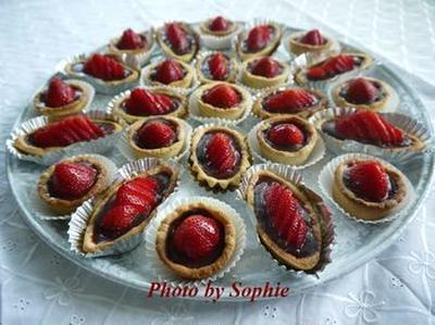 ストロベリーチョコレート・タルトレットのレシピ