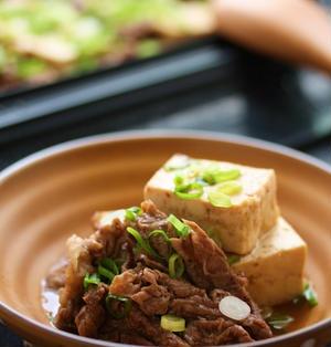 スチームケースですき焼き風肉豆腐