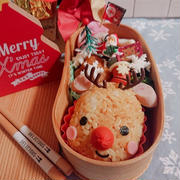 トナカイおにぎりのお弁当〖デコ弁*クリスマス弁当〗