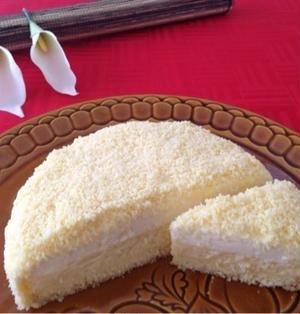 切ってみました〜♪♪昨日出来上がった『ルタオ風のドゥーブルフロマージュ』& 『ケーキの作り方』