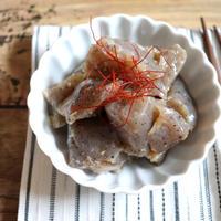 【簡単!副菜・作り置き】1枚19円!業スーこんにゃくdeほっとする味♪コンニャクのしょうが煮