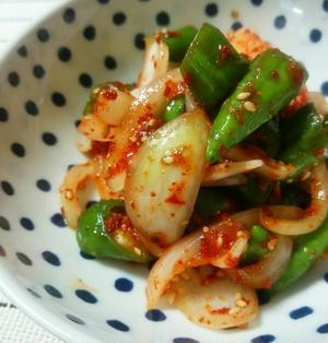 万願寺とうがらしキムチレシピ --簡単で夏にぴったり懐かしい味。