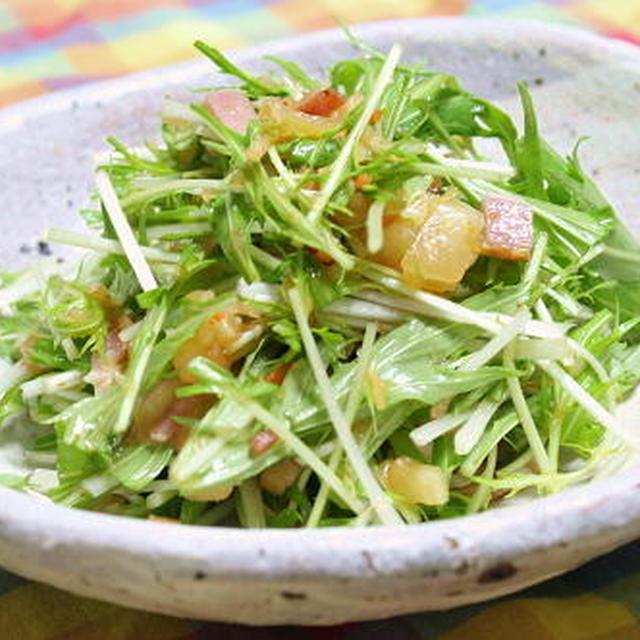13/03/05 水菜のキムチドレッシングサラダ