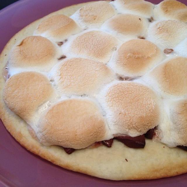 マックスブレナー風に「チョコレートチャンクピザ」【スパイス大使】