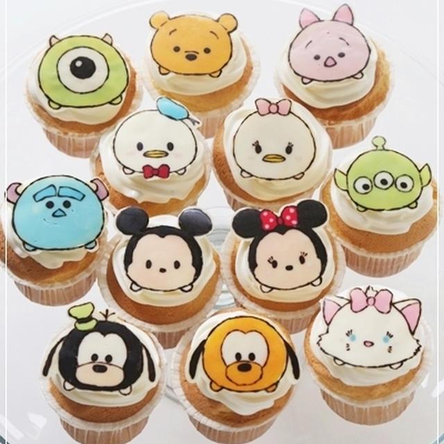 ディズニーツムツムのカップケーキ*キャラスイーツ【レシピあり】