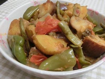 和風ラタトゥイユ♪ 夏野菜の味噌蒸し煮
