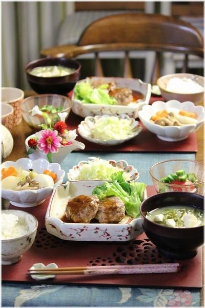【レシピ】水切りなし豆腐ハンバーグ。と 献立。と 一緒に夏休みを。