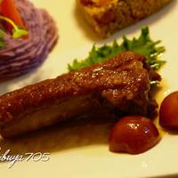 ☆イベリコ豚スペアリブのキンカン漬けブランデー煮☆