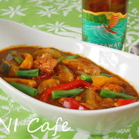 鯖と夏野菜カレー