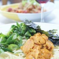 ちょっと韓国風のウニのカルボナーラスパゲッティ