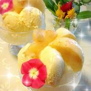 桃とカルピスの極上!お家かき氷♪ by あさごはん1108さん