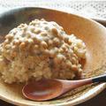 十六雑穀米de豆乳リゾット 納豆のっけ♪