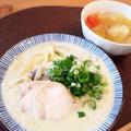 『白だし×オリーブオイル』で豆乳スープパスタ!