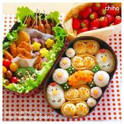 にわとり&ひよこ稲荷のピクニック弁当♡