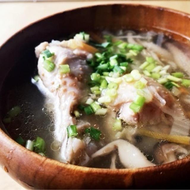 炊飯器でぽーん!\(^o^)/ たっぷり生姜の手羽元白湯