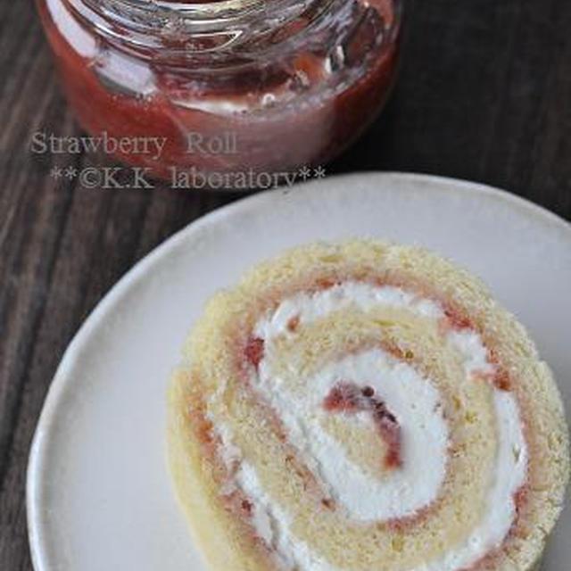 イチゴジャムのロールケーキ