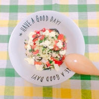 〜無理なく野菜を食べよう〜もち麦とバジルの洋風チキンサラダ