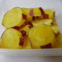 サフランで色鮮やかに仕上げる、さつまいものレモン煮