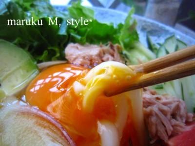 野菜冷やしうどん&アボカドバーガー