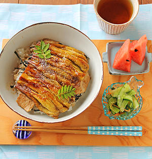 鰻のようなとろとろ茄子と豚肉のかば焼きスタミナ丼!!