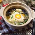 秋の味覚 絹美人de簡単!1人♡味噌豆腐鍋