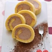 バニラチョコロールケーキ