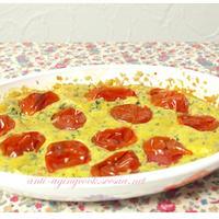 わかめとトマトのスフォルマート〜乾物イタリアン