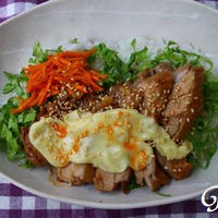 さっぱり鶏チャーシューno洋風チーズ丼