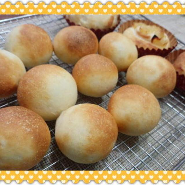 シンプルパン&リンゴ煮パン